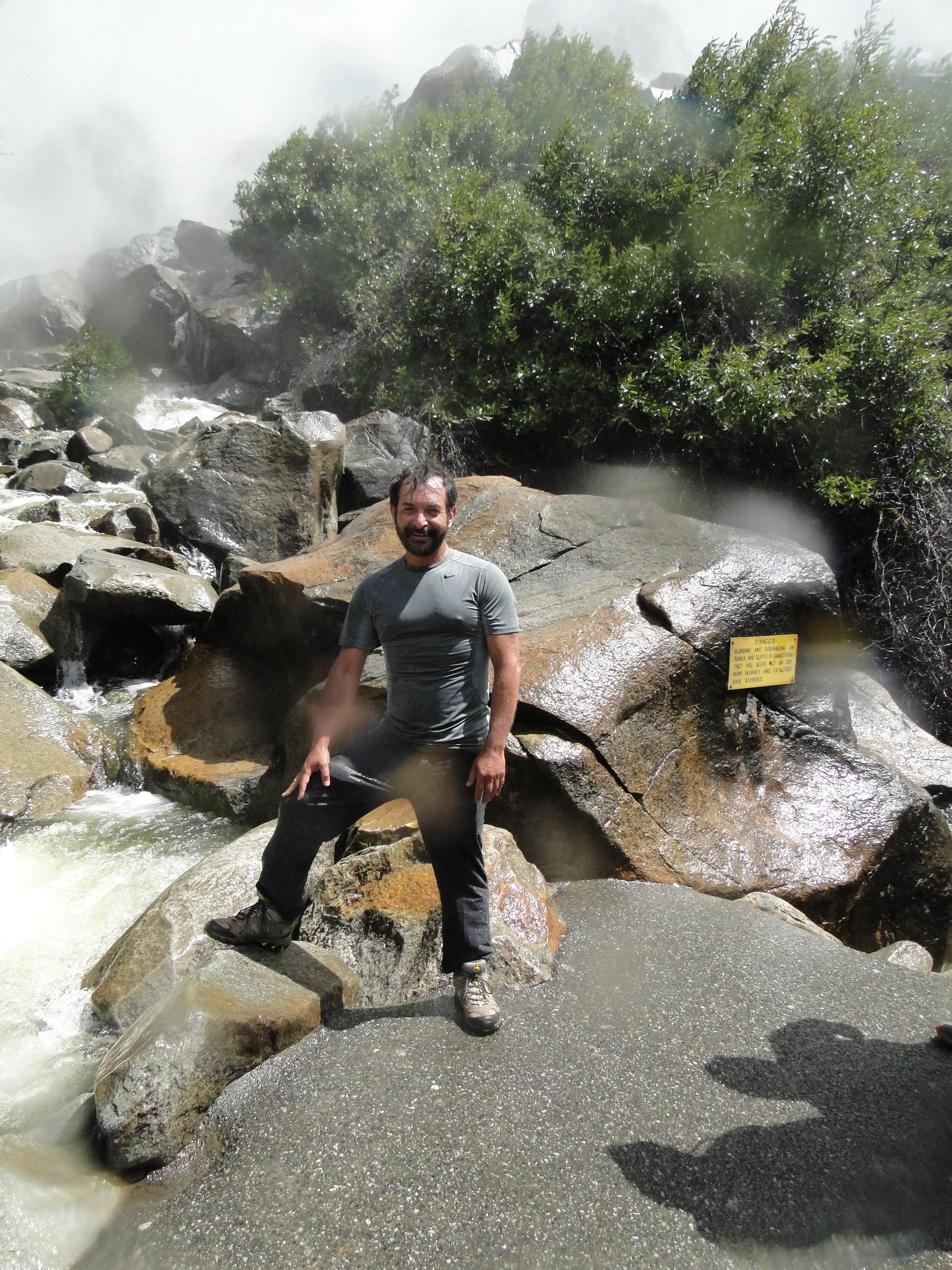 A freezing shower at Bridalveil Fall - Yosemite National Park