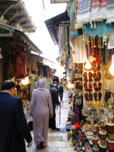 The Old City Souk in the Muslim Quarter - East Jerusalem, Israel