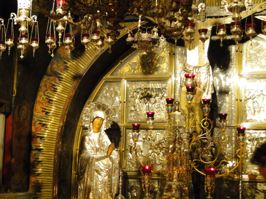 Crucifixion Altar in the Church of the Holy Sepulchre - Jerusalem's Old City, Israel