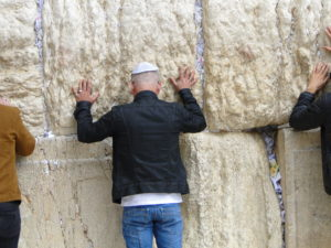 At the Western Wall - Old City of Jerusalem, Israel