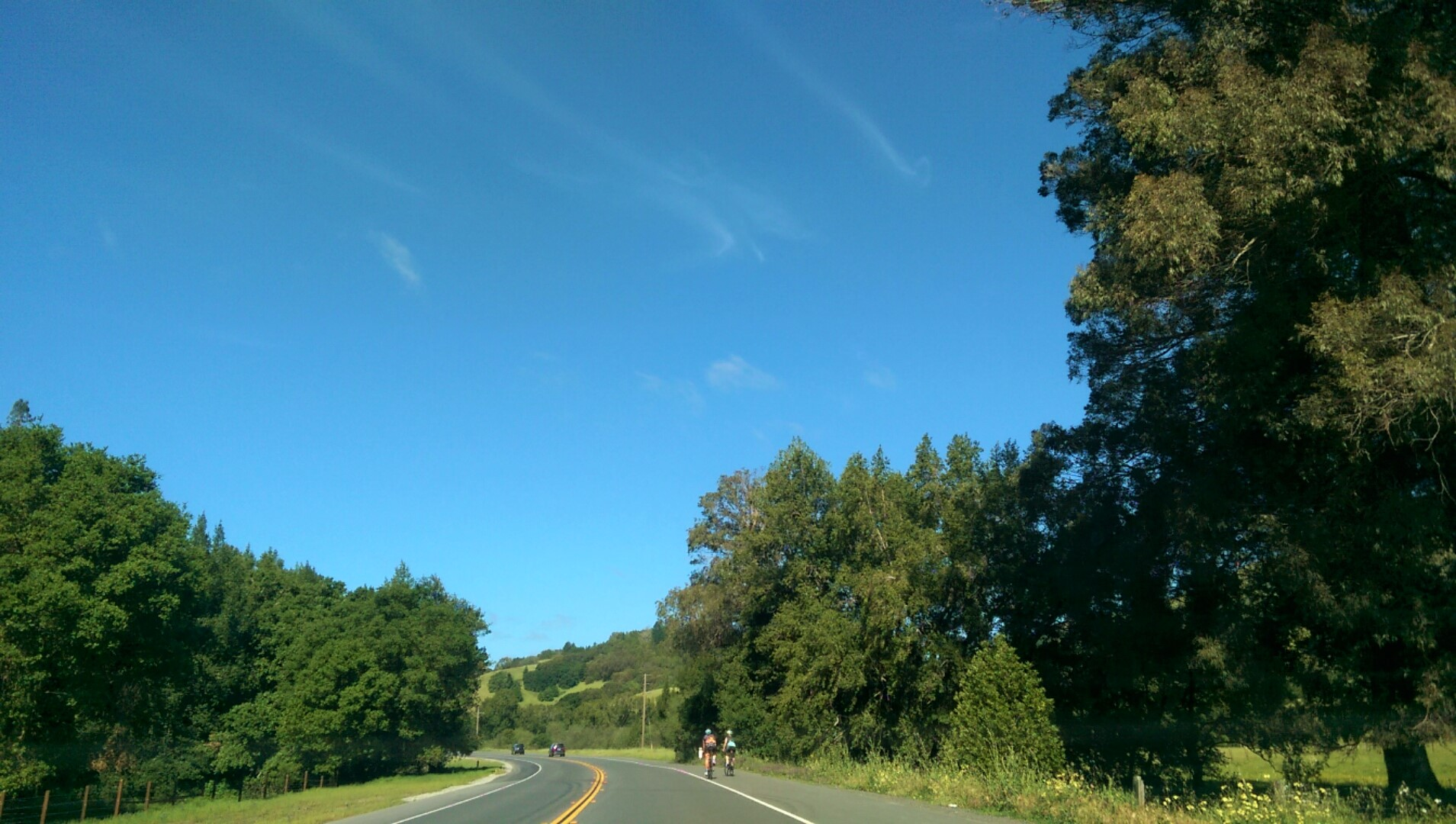 Bikers in Fairfax, California