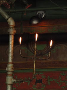 Gas lamp fixture at the Courtyard Restaurant at the McMenamins Kennedy School, Portland - Oregon