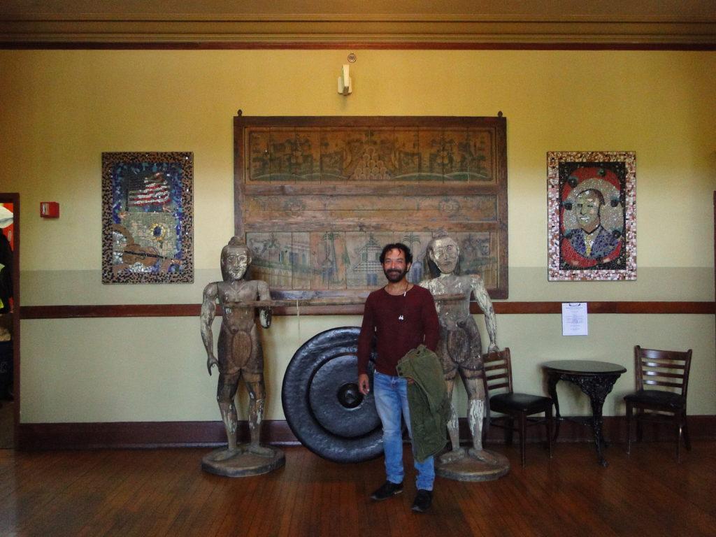 Main entrance hall of the historic hotel McMenamins Kennedy School - Portland, Oregon