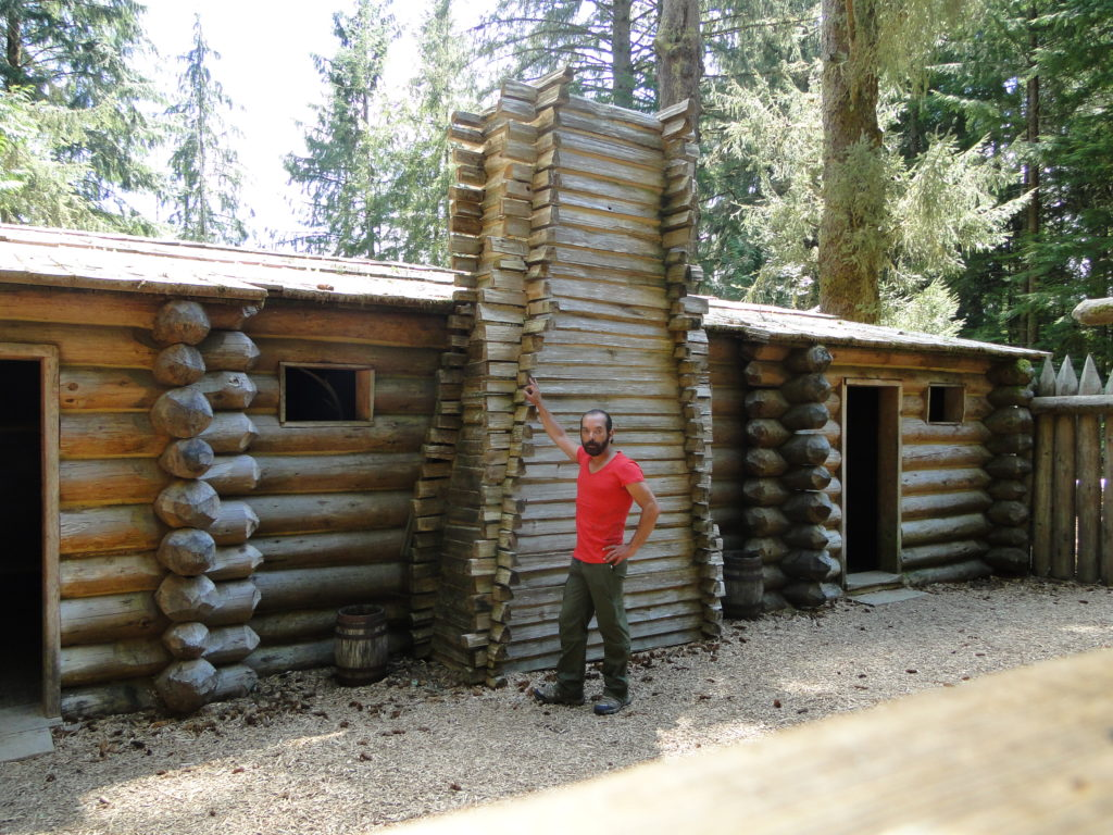 At Fort Clatsop in the Lewis and Clark National and State Historical Parks, Oregon