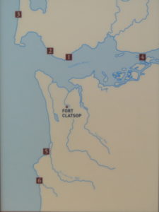 Map location of Fort Clatsop in the Lewis and Clark National and State Historical Parks, Oregon