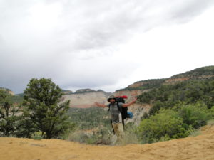 Backpacking in the wilderness area of Zion National Park, Utah
