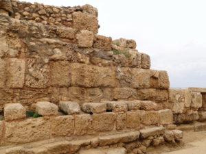 Roman public estrooms at the Roman hippodrome ruins in Caesarea, Israel