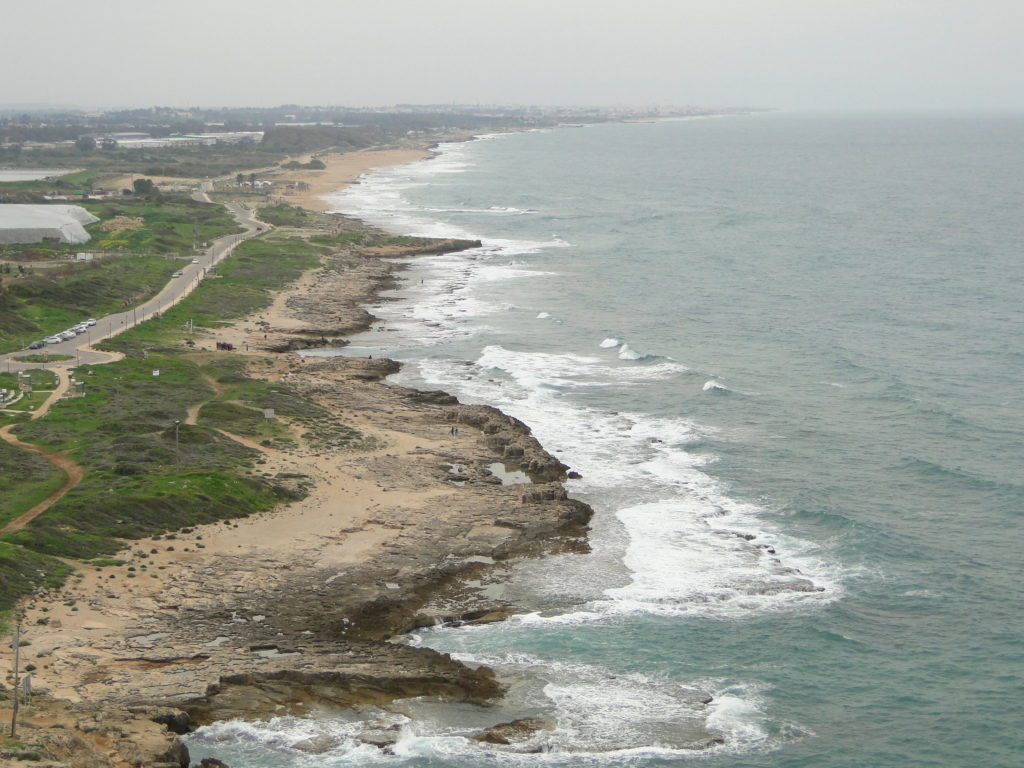 View of Israel looking south from Rosh HaNikra, Israel