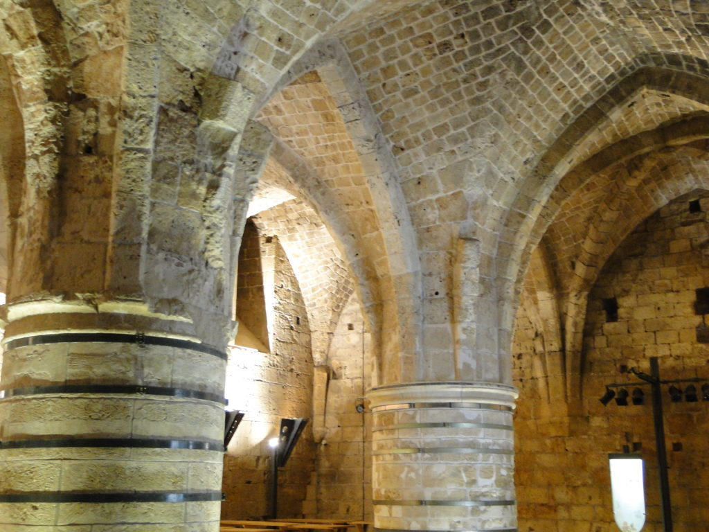 Knights' Hall (or the Citadel) in Old Acre (Akko), Israel