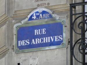 Rue des Archives in the heart of Le Marais - Paris, France