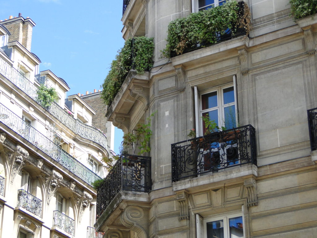 View from a cafe on Rue des Archives in the gay neighborhood of Le Marais - Paris, France