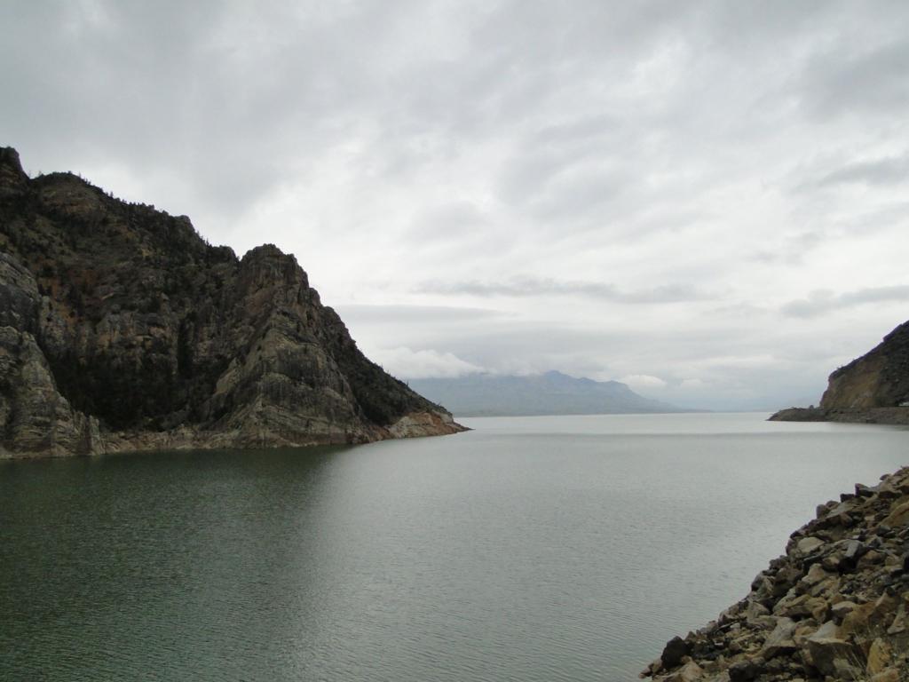 Buffalo Bill Dam reservoir in the Shoshone River - Cody, Wyoming